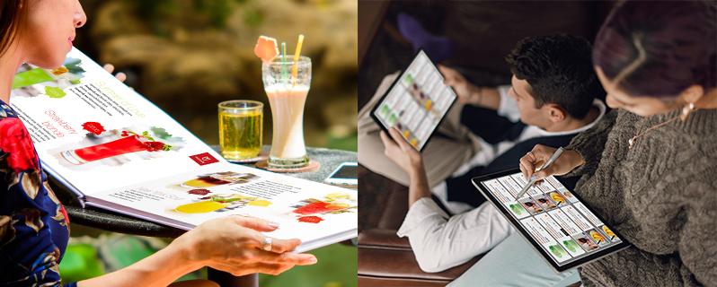 Menu in vs Menu online