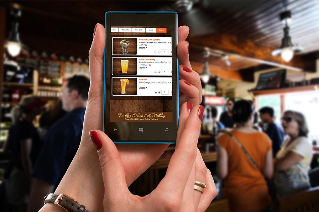 Menu Online tiện lỡi khi đặt hàng nơi đông khách