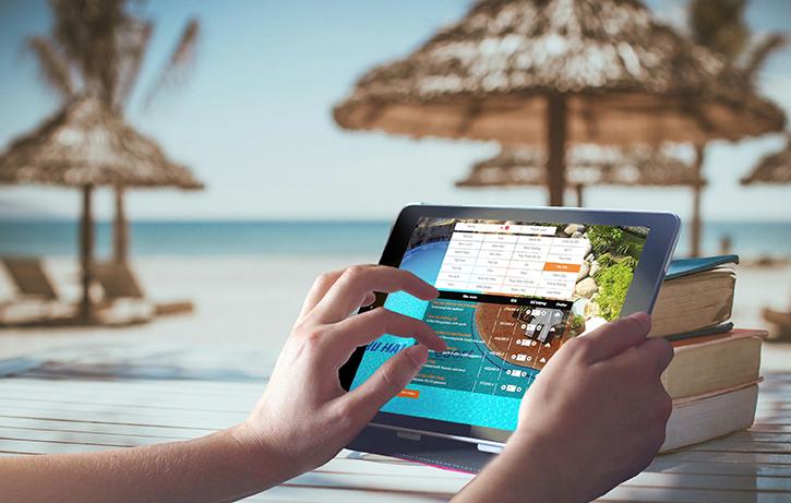 Menu online rất tiện lợi cho khu vực kinh doanh diện tích lớn